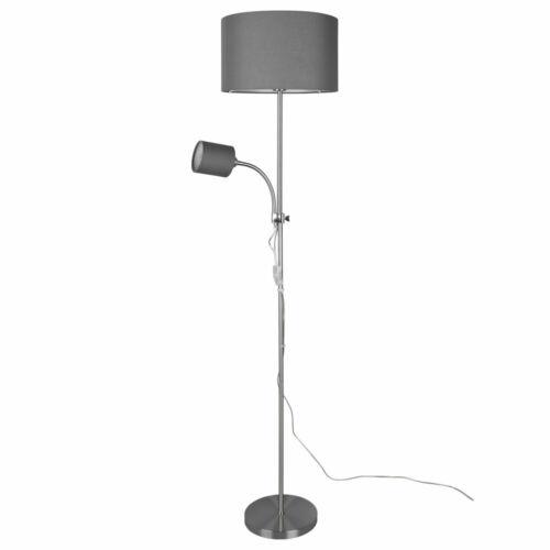 Stand Leuchte Textil Schirm Lese-Arm Steh Lampe Wohn Ess Zimmer Beleuchtung