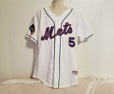 NY Mets Majestic #5 David Wright Sz 50 White MLB Baseball 2009 Inaugural Jersey