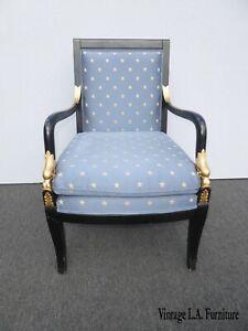 Ethan Allen Blue Accent Chair