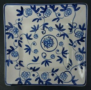 Annalise-Salad-Plate-by-HD-Design-8-inch-Blue-Floral-Scrolls-Discontinued