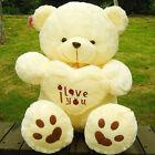 "New 19"" Giant Teddy Bear Stuffed Animals Plush soft Gift for Kid Birthday Beige"