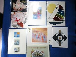 7 Blank Greeting Cards Related to Boats & Sailing Many Handmade & 3D with Envs