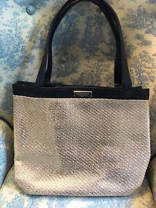 3b88cb9ebe VERSACE parfums black gold tote shopper carry on bag handbag travel ...
