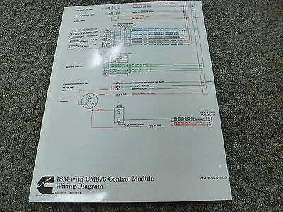 cummins ism engine with cm876 control module electrical wiring rh ebay com cummins ism engine parts diagram