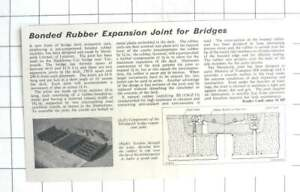 1962-Bonded-Rubber-Expansion-Joint-For-Bridges-Metalastik-Ltd-Leicester