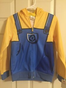 youth medium Despicable Me Minions zippered hoodie new with tags