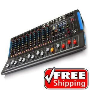 PYLE PMXU128BT 12-Channel Bluetooth Stereo Mixer - DJ Controller Audio Mixing System Canada Preview