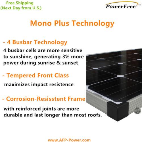 MonoPlus COMPLETE KIT Solar 150w 150 Watt Panel  for 12v Battery RV Boat eGSP