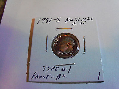 *   **FREE SHIPPING** 1 1981 S ROOSEVELT *PROOF* DIME *TYPE I