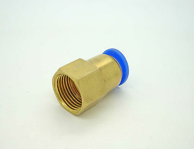 Brass Push-In Female BSP x Tube Fittings Pneumatic Air Pipe Hose