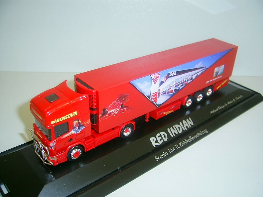 Herpa Trio TRANS rouge INDIAN Scania TL dans PC