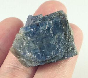 63Ct Natural Unheated Blue Sapphire Corundum Facet Rough Specimen YBG3548