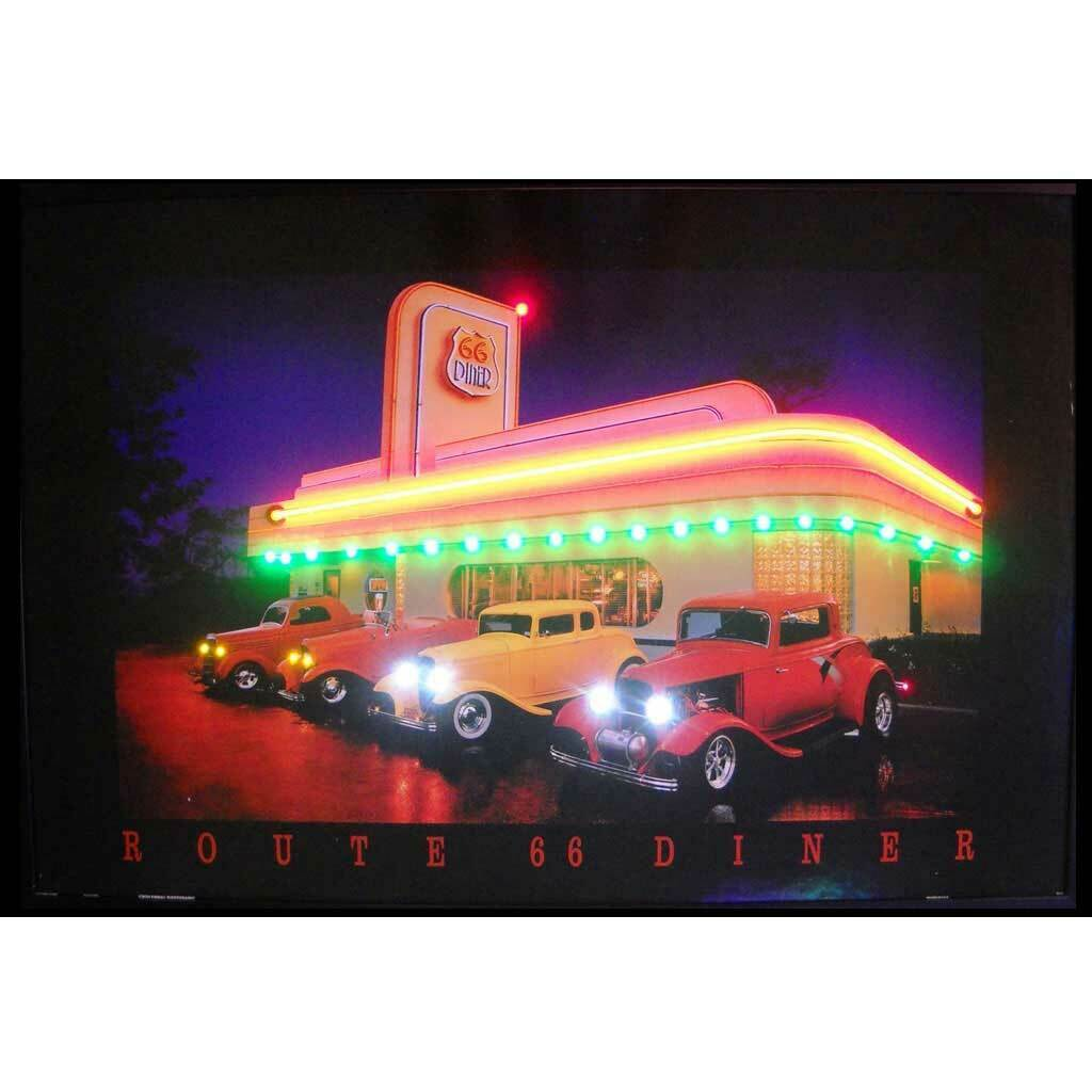 Neonetics Retro Haileys Diner Neon Led Framed Vintage Advertisement For Sale Online Ebay