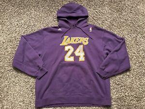 Authentic Adidas Kobe Bryant Los Angeles Lakers Purple NBA Jersey Hoodie Sz XL