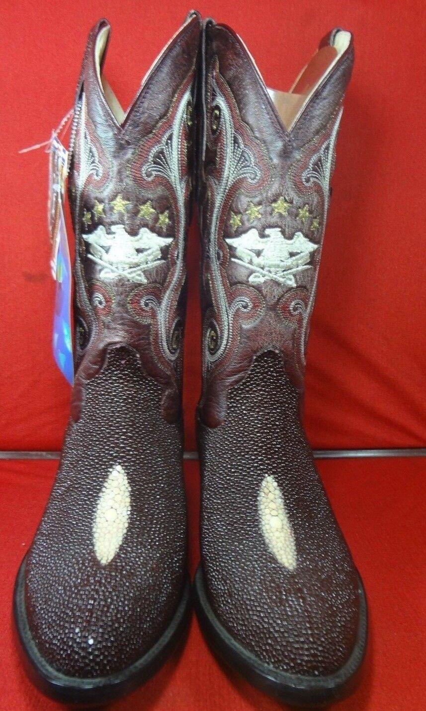Herren  Exotic  STINgrau SINGLE STONE Western Cowboy Stiefel By EL GENERAL (0010)