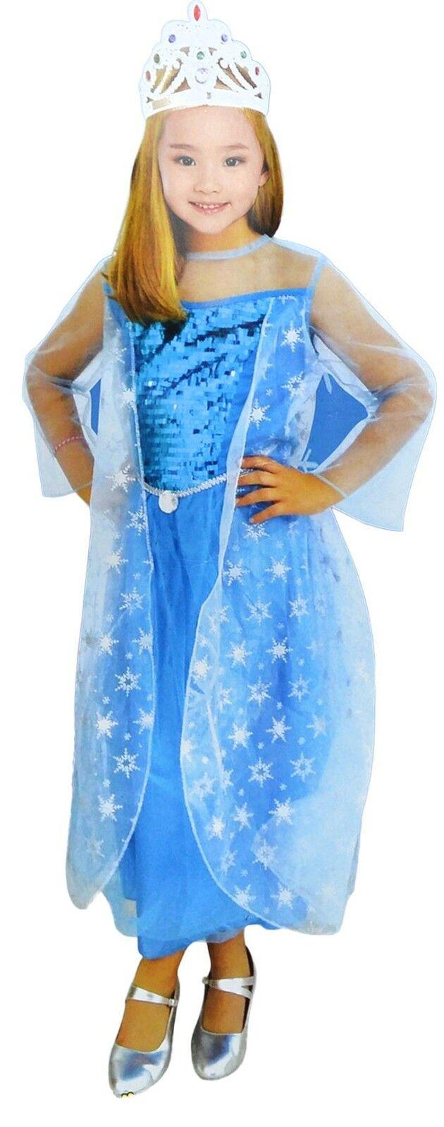 Bermoni Princess Elsa Dressing Up Costume (4 to 6 y.o.)