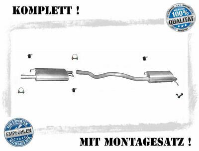 Montagesatz VW Polo 9N  1.9 SDI//TDI  Auspuffanlage Auspuff Mitteltopf Endtopf
