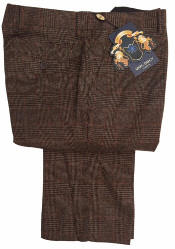Marrone Uomo Marc Darcy Quadri Dressy Pantaloni James