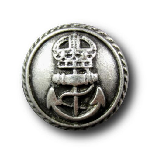 6 maritime altsilberfarb 0775sp métal armoiries boutons comme de la Kaiserzeit