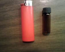 3 Amber Glass Vials 15 X 45 Mm 1 Dram With Screw Cap