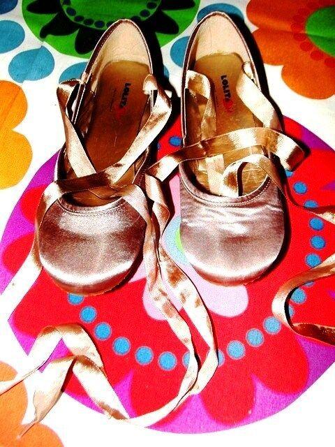 LOLITA LEMPICKA BALLERINES RUBANS DANSEUSE SATIN CUIVRE OR RUBANS BALLERINES SOIREE   38/ 38.5 e886b4