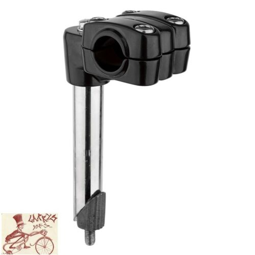BLACK OPS MX 4-BOLT ALLOY BMX QUILL STYLE 21.1mm BLACK BICYCLE STEM