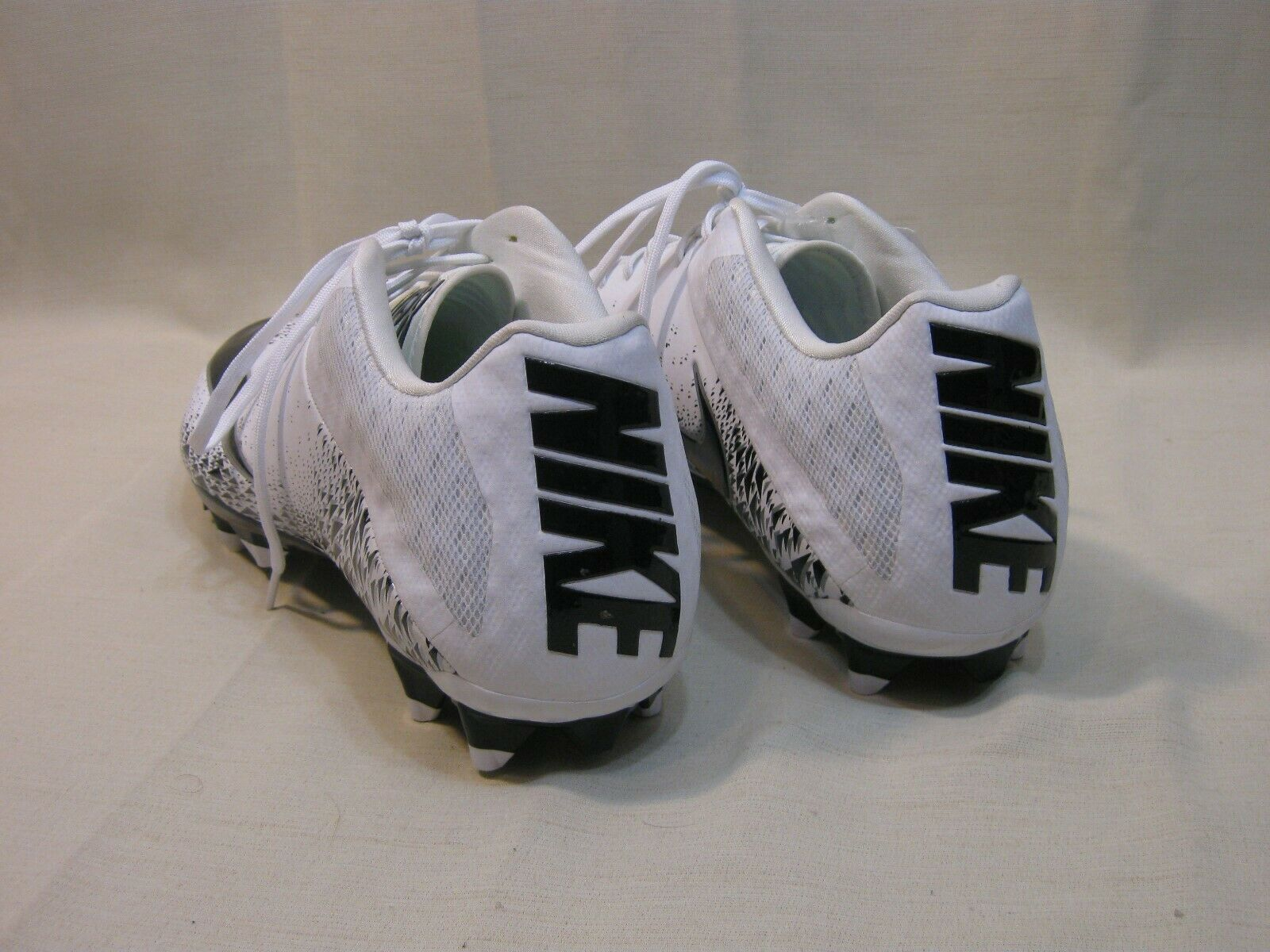 New Nike Vapor Speed White & Black 833380 - - - 100 Football Cleats Size 15 ab1c6b