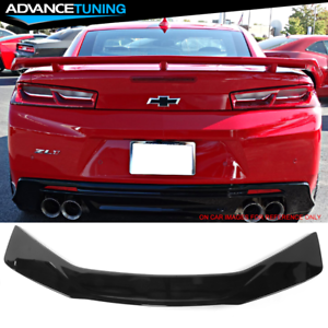 Fits 16-20 Chevy Camaro ZL1 Style Trunk Spoiler Gloss Black GBK ABS