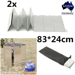 2X10-Plates-Foldable-Outdoor-Camping-Cooking-Burner-Stove-Wind-Shield-Screen