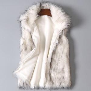 Winter-Women-039-s-Wool-Vest-Faux-Fur-Vest-Stand-Collar-Faux-Fur-Coat-Vest-Jacket