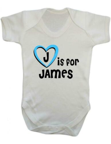J Is For James James Baby Bodysuit Playsuit Baby Vest