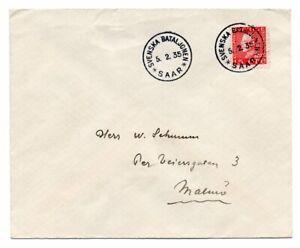 Sweden Saar Cover From Swedish Battalion In Saar Germany 1935 14 Ebay