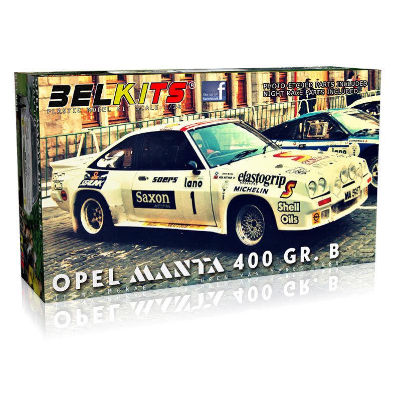 BELKITS - OPEL MANTA 400 GR.B JIMMY McCRAE RALLY CAR CONSTRUCTION KIT 1 24 SCALE