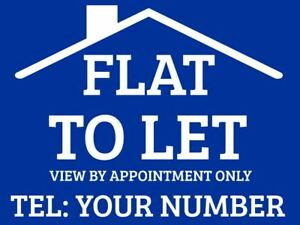 Flat To Let Sign Boards X2 Ebay