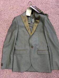 Mens-MossBros-DinnerSuit-Shirt-amp-Tie-Jkt-34-Trs-28R-Shrt-14-5
