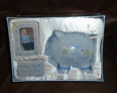 Gift From Above Medallion Tooth Curl Cream 3 x 3 Stoneware Baby Keepsake Box