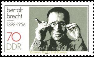 EBS-East-Germany-DDR-1988-Bertolt-Brecht-Michel-3148-MNH