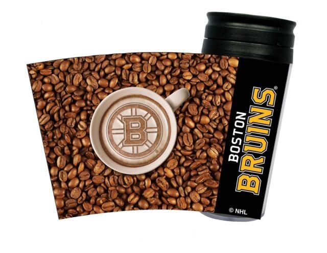 NEW BOSTON BRUINS LATTEAM COFFEE ART 16oz TRAVEL TUMBLER