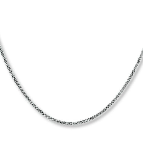 Collana modello pop corn in argento 925 sterling placcato oro rosa anallergico