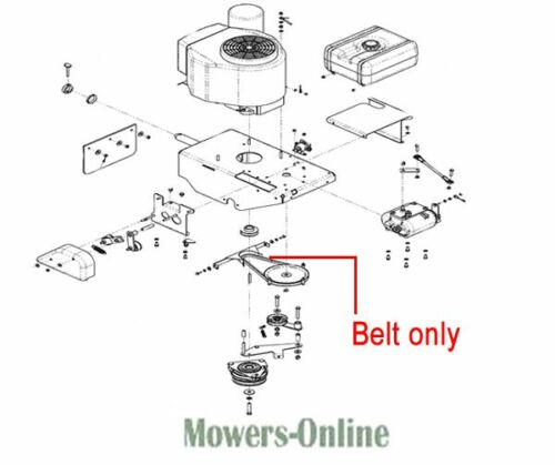 1// 2 X33 DR150061 DR Replacement Mower V Drive Belt