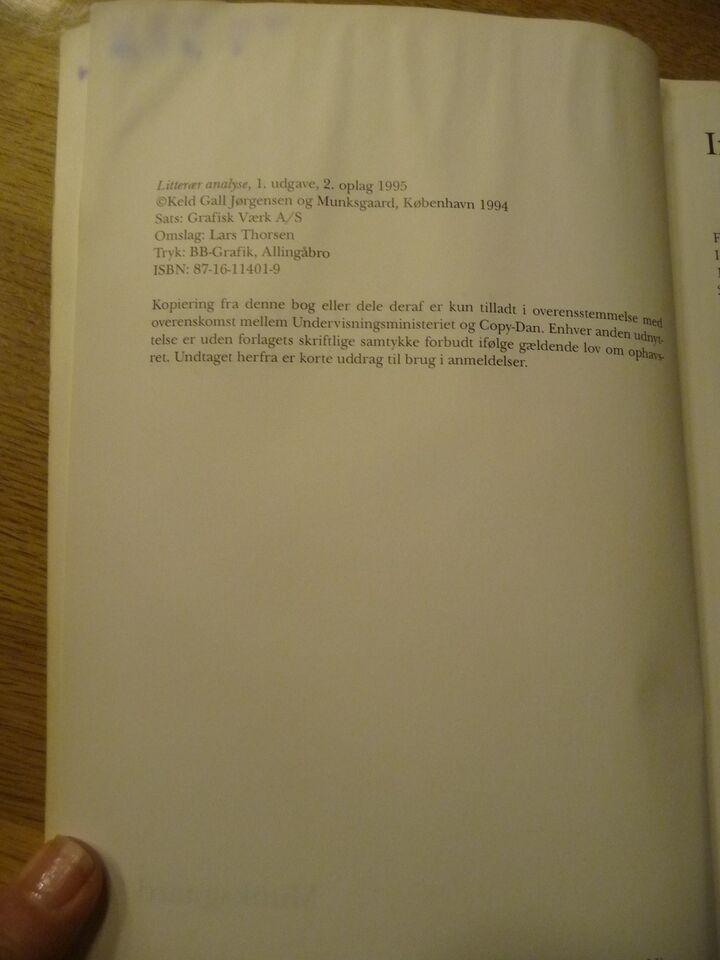 Litterær analyse prosa og lyrik, Keld Gall Jørgensen,