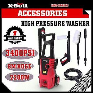 X-BULL-High-Pressure-Water-Cleaner-Washer-3400-PSI-Electric-Pump-Hose-Gurney