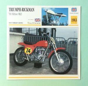 Triumph Rickman 500 Métisse Mk3 1963 Moto Fiche De Collection Atlas