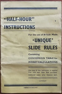 Half-Hour-Instructions-for-use-of-British-Made-Unique-Slide-Rules-Booklet