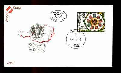 Fdc #c2976 Search For Flights Austria 1990 Anniv Of First Provinces Conf Austria