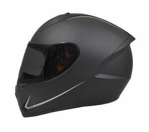 Mt Stinger Motorcycle Motorbike Full Face Lightweight Helmet Solid Matt Black Ebay