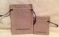 Lot Of 2 Marco Bicego Suede Jewelry Pouch In Drawstrings With Card