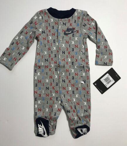 Nike Futura Infant Footed Coverall Sleeper Romper Newborn 3M 6M 9M