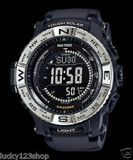 PRW-3510-1D Black Casio Pro-Trek Men's Watches Solar Compass Resin Band New