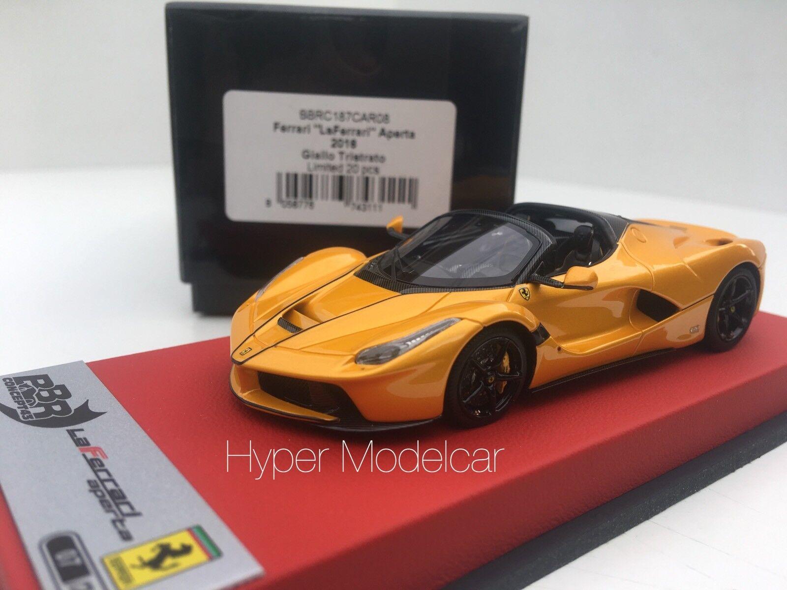 BBR  Models 1 43 Ferrari Ferrari Open 2016 jaune Triple Art. BBRC 187voiture08  haute qualité